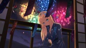 Rating: Safe Score: 56 Tags: aqua_eyes blonde_hair boku_wa_tomodachi_ga_sukunai cait fireworks japanese_clothes kashiwazaki_sena long_hair night sky stars summer yukata User: あかり