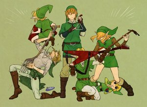 Rating: Safe Score: 11 Tags: all_male blonde_hair boots green guitar hat instrument link_(zelda) male pointed_ears short_hair the_legend_of_zelda tobacco_(tabakokobata) User: otaku_emmy