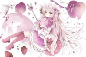 Rating: Safe Score: 33 Tags: blush bunny dress food fruit gray_hair lolita_fashion long_hair original paper polychromatic purple_eyes strawberry tsukiyo_(skymint) User: BattlequeenYume