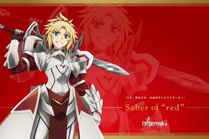 Rating: Safe Score: 42 Tags: fate/apocrypha fate_(series) mordred sword tagme_(artist) weapon zoom_layer User: RyuZU