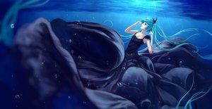 Rating: Safe Score: 94 Tags: aqua_eyes aqua_hair blue bubbles deep-sea_girl_(vocaloid) dress hatsune_miku jpeg_artifacts long_hair sombernight twintails underwater vocaloid water User: Flandre93