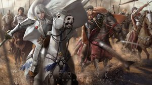 Rating: Safe Score: 97 Tags: animal armor behelit berserk caska corvus griffith guts horse lightofheaven male rickert sword weapon white_hair User: Flandre93