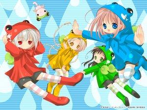 Rating: Safe Score: 15 Tags: bottle_fairy chiriri hororo kururu oboro pointed_ears rain sarara tokumi_yuiko water User: Oyashiro-sama
