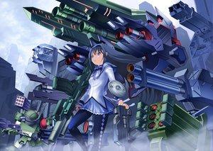Rating: Safe Score: 37 Tags: akemi_homura armored_trooper_votoms crossover gun mahou_shoujo_madoka_magica mecha shiba_tomori weapon User: HawthorneKitty