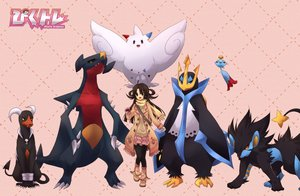 Rating: Safe Score: 76 Tags: brown_eyes brown_hair chimecho empoleon garchomp houndoom kisaitu logo long_hair luxray pantyhose pokemon scarf skirt togekiss User: C4R10Z123GT