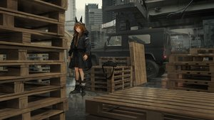 Rating: Safe Score: 45 Tags: 3d animal_ears boots brown_eyes brown_hair building city combat_vehicle hoodie industrial lm7_(op-center) long_hair original scenic socks User: Dreista