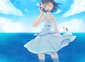 Rating: Safe Score: 19 Tags: clouds dress idolmaster kikuchi_makoto shiguri summer_dress water User: HawthorneKitty