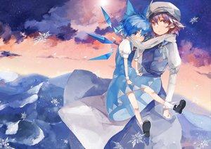Rating: Safe Score: 102 Tags: 2girls cirno fairy letty_whiterock saberiii scarf shoujo_ai touhou User: FormX