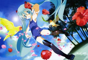 Rating: Safe Score: 20 Tags: hatsune_miku miyashita_miki school_swimsuit swimsuit vocaloid User: 秀悟