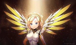 Rating: Safe Score: 69 Tags: aqua_eyes blonde_hair bodysuit headdress jewriel mercy_(overwatch) overwatch wings User: FormX