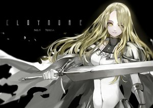 Rating: Safe Score: 109 Tags: armor blonde_hair cape claymore long_hair saberiii sword teresa weapon yellow_eyes User: FormX