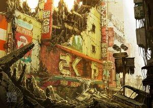 Rating: Safe Score: 29 Tags: building car city nobody original ruins scenic tokyogenso watermark User: RyuZU