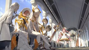Rating: Safe Score: 19 Tags: alchemy_stars animal bird clouds cross glasses group hat long_hair male pantyhose pink_hair sky somehira_katsu tagme_(character) white_hair User: BattlequeenYume