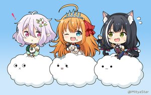 Rating: Safe Score: 47 Tags: animal_ears aqua_eyes black_hair catgirl cat_smile clouds fang food green_eyes karyl kokkoro long_hair miicha orange_hair pecorine pointed_ears princess_connect! purple_eyes purple_hair short_hair tears tiara twintails waifu2x watermark wink User: otaku_emmy
