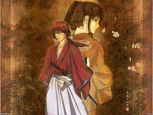Rating: Safe Score: 3 Tags: flowers himura_kenshin japanese_clothes kamiya_kaoru male rurouni_kenshin scar sword weapon User: Oyashiro-sama