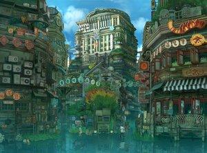 Rating: Safe Score: 29 Tags: building city original reflection scenic torahico tree umbrella water User: FormX