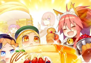 Rating: Safe Score: 15 Tags: abigail_williams_(fate/grand_order) animal_ears aqua_eyes bell blonde_hair blush bow cake collar fang fate/grand_order fate_(series) food foxgirl fruit glasses gloves group hat headdress ice_cream kazune_rain loli long_hair maid mash_kyrielight orange_eyes passionlip paul_bunyan_(fate/grand_order) pink_hair ponytail purple_eyes purple_hair strawberry tamamo_no_mae_(fate) watermark User: otaku_emmy