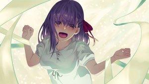 Rating: Safe Score: 39 Tags: dress fate_(series) fate/stay_night junkbox long_hair matou_sakura petals purple_eyes purple_hair ribbons User: RyuZU