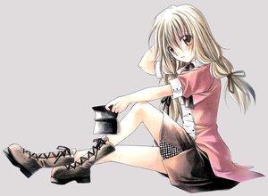 Rating: Safe Score: 4 Tags: boots eita_mizuno ribbons spiral yuizaka_hiyono User: 秀悟