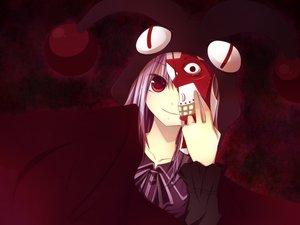 Rating: Safe Score: 24 Tags: game_cg gore_screaming_show mask purple_eyes red_eyes User: humanpinka