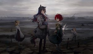 Rating: Safe Score: 61 Tags: animal_ears arknights black_hair boots brown_hair croissant_(arknights) exusiai_(arknights) flowers gloves group halo hoodie huanxiang_heitu jpeg_artifacts landscape long_hair necklace orange_eyes orange_hair pantyhose ponytail red_hair scenic short_hair shorts skirt sora_(arknights) tail texas_(arknights) twintails wings User: Dreista