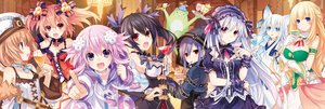 Rating: Safe Score: 179 Tags: alyn_(fairy_fencer_f) animal_ears blanc breasts choker cleavage crossover dress drink dualscreen effole fairy_fencer_f food group hat headdress hoodie hyperdimension_neptunia karin_(fairy_fencer_f) neptune noire ribbons sword tagme third-party_edit tiara_(fairy_fencer_f) tsunako vert weapon User: Dummy