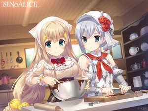 Rating: Safe Score: 41 Tags: 2girls aqua_eyes armor blonde_hair breasts chocolate food gray_eyes gray_hair hat logo long_hair rapunzel_(sinoalice) short_hair sinoalice snow_white_(sinoalice) square_enix tagme_(artist) valentine User: Nepcoheart