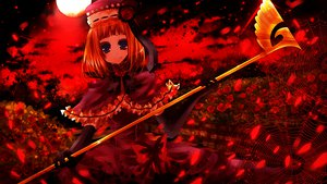 Rating: Safe Score: 49 Tags: blue_eyes elbow_gloves eva-beatrice flowers gloves hat moon orange_hair polychromatic red sasagamimomo umineko_no_naku_koro_ni User: PAIIS