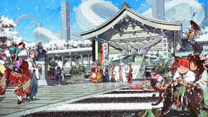 Rating: Safe Score: 128 Tags: aki_minoriko aki_shizuha animal animal_ears ansi building catgirl cirno daiyousei drink fairy group hieda_no_akyuu himekaidou_hatate inubashiri_momiji japanese_clothes jpeg_artifacts kaenbyou_rin kagiyama_hina kawashiro_nitori kimono kochiya_sanae komeiji_koishi luna_child miko moriya_suwako multiple_tails reiuji_utsuho shameimaru_aya snake snow star_sapphire sunny_milk tagme tagme_(character) tail touhou winter wolfgirl yasaka_kanako User: opai