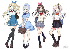 Rating: Safe Score: 23 Tags: a.i._channel aqua_eyes bandage blonde_hair blue_eyes bow brown_hair dennou_shoujo_youtuber_shiro dress gray_hair group hat headband kaguya_luna kaguya_luna_(character) kizuna_a.i. kneehighs long_hair mirai_akari mirai_akari_project morikura_en ponytail seifuku shiro_(dennou_shoujo_youtuber_shiro) short_hair signed sketch skirt socks thighhighs twintails white_hair wristwear zettai_ryouiki User: otaku_emmy