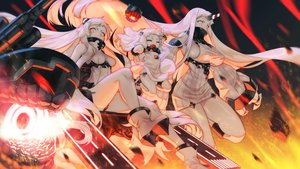 Rating: Safe Score: 59 Tags: airfield_hime anthropomorphism boots breasts dress kantai_collection loli long_hair matsukawa_li northern_ocean_hime orange_eyes panties seaport_hime underwear white_hair User: RyuZU