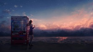 Rating: Safe Score: 34 Tags: beach black_hair clouds coca_cola drink long_hair original scenic school_uniform sky stars sunset water yingsu_jiang User: sadodere-chan