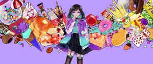 Rating: Safe Score: 32 Tags: apple asaga_choco black_hair candy chocolate choker food fruit garter_belt ice_cream original pocky popsicle purple purple_eyes ribbons short_hair skirt stockings strawberry thighhighs User: RyuZU
