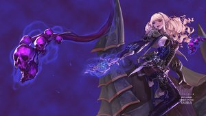 Rating: Safe Score: 34 Tags: armor blonde_hair boots dungeon_and_fighter headband long_hair magic pointed_ears purple purple_eyes skull thighhighs weapon User: _Egoist