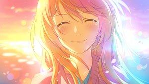 Rating: Safe Score: 170 Tags: blonde_hair blush close crying miyazono_kaori shigatsu_wa_kimi_no_uso sunset tears xiao_ren User: luckyluna