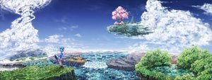 Rating: Safe Score: 138 Tags: bloomers bow cherry_blossoms cirno clouds dress fairy flowers forest landscape petals same_2009 scenic sky touhou tree water waterfall User: gnarf1975