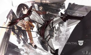 Rating: Safe Score: 127 Tags: black_hair boots brown_eyes kiwamu mikasa_ackerman scarf shingeki_no_kyojin short_hair sword weapon User: FormX