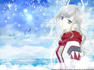 Rating: Safe Score: 14 Tags: animal bird clouds gray_eyes gray_hair hibiki_reine long_hair maria-sama_ga_miteru sky toudou_shimako User: Oyashiro-sama