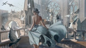 Rating: Safe Score: 79 Tags: animal bird building dress ghostblade gray_hair logo princess_yan realistic scenic watermark wlop User: SciFi