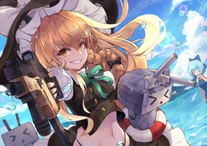 Rating: Safe Score: 46 Tags: aqua_hair blonde_hair bow braids cirno crossover fairy gun hat kantai_collection kirisame_marisa long_hair navel pantie_painting rensouhou-chan short_hair touhou weapon wings witch witch_hat yellow_eyes User: RyuZU