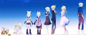 Rating: Safe Score: 14 Tags: gradient kagamine_len kagamine_rin loli male ukai_saki vocaloid User: FormX