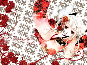 Rating: Safe Score: 21 Tags: animal_ears flowers japanese_clothes kimono red_eyes rose tail white_hair User: mikucchi