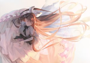 Rating: Safe Score: 46 Tags: bow brown_hair dress long_hair original ribbons sawasawa User: RyuZU