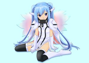 Rating: Safe Score: 31 Tags: 000078 blue_eyes blue_hair boots collar elbow_gloves gloves long_hair nymph sora_no_otoshimono thighhighs twintails wings User: Kumacuda