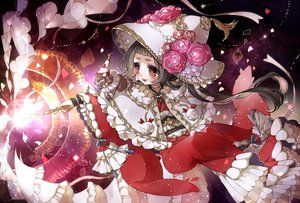 Rating: Safe Score: 5 Tags: animal black_hair cape chino_machiko choker flowers hat japanese_clothes kimono long_hair mage magic original red_eyes waifu2x wand witch witch_hat User: otaku_emmy