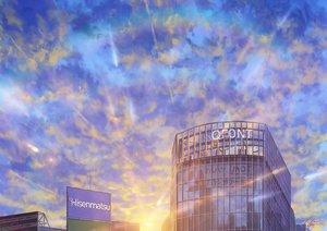Rating: Safe Score: 33 Tags: building clouds niko_p original reflection scenic signed sky User: RyuZU
