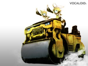 Rating: Safe Score: 40 Tags: blonde_hair blue_eyes car huke jpeg_artifacts kagamine_len kagamine_rin male short_hair shorts tie vocaloid User: w7382001