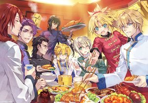 Rating: Safe Score: 18 Tags: agravain arturia_pendragon bedivere black_hair blonde_hair blue_eyes braids carnelian chinese_clothes drink fang fate/grand_order fate_(series) food gawain green_eyes group lancelot_(fate) long_hair male mordred ponytail purple_eyes purple_hair red_hair short_hair tristan_(fate/grand_order) waifu2x watermark wink yan_qing User: otaku_emmy