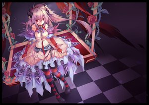 Rating: Safe Score: 258 Tags: breasts cleavage demon dress flowers horns original pink_hair red_eyes red_silk_bird rose User: opai