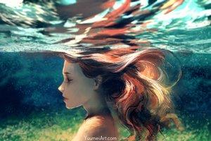 Rating: Safe Score: 64 Tags: close long_hair original red_hair topless underwater water watermark wenqing_yan_(yuumei_art) User: otaku_emmy